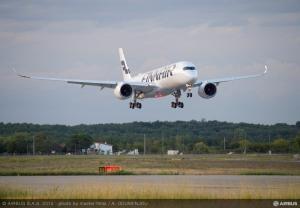 Finnair A350 XWB 1st Test Flight- Landing