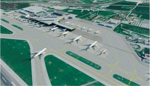 new terminal area lay out