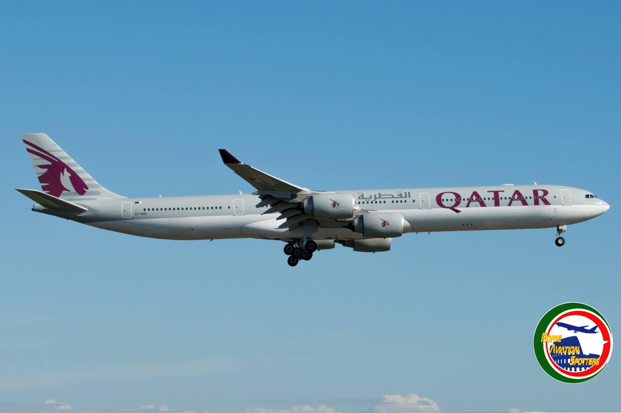 Qatar Airways con A340-600 a Roma – Italiavola