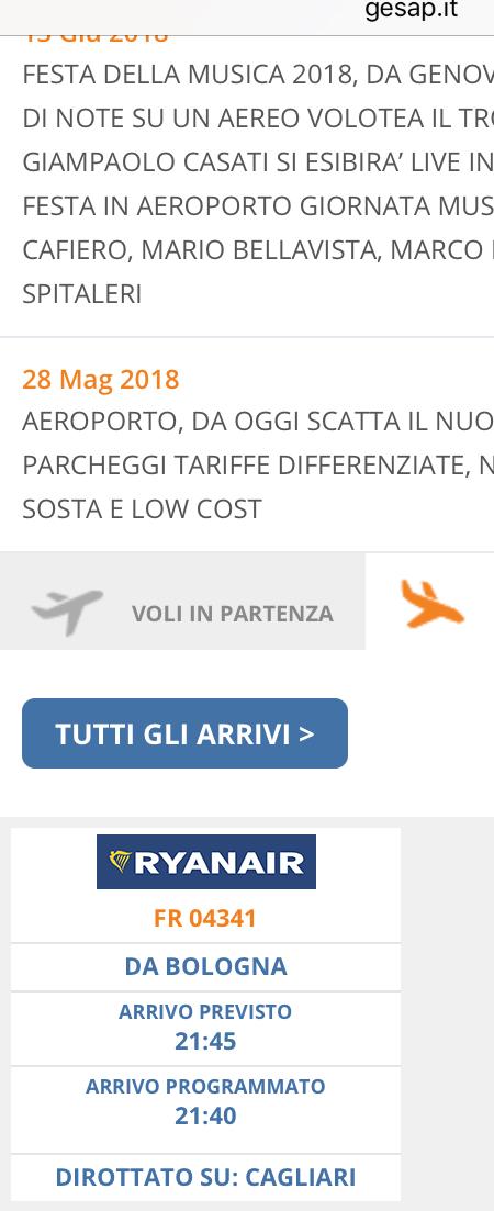 Palermo Il Volo Da Bologna Ryanair Dirotta A Cagliari